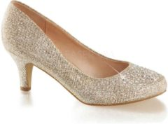 Beige Fabelicious EU 39 = US 9 | DORIS-06 | 2 1/2 Kitten Heel, Pump Embellished w/RS Glitt