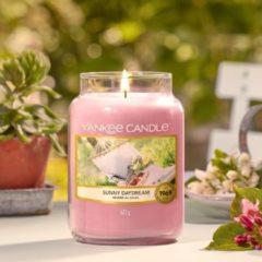 Paarse Yankee Candle Large Jar Geurkaars - Sunny Daydream