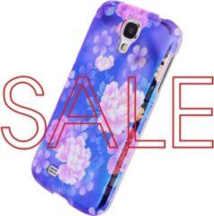 Xccess Oil Cover Samsung Galaxy S4 I9500/I9505 Purple Flower - Xccess