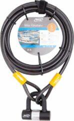 Grijze Vinz Kinabalu Kabelslot - 12mm x 5 Meter (Slot voor tuinmeubels/speeltoestellen/boot/terras/tuinset)