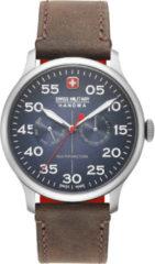 Blauwe Swiss Military Hanowa horloge