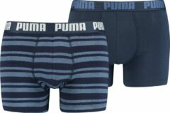 Puma Boxershort Heritage Boxer Slip Easy Every Day Stretch 2 Pac - Blauw | M