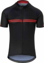 Rode Giro Chrono Sport Fietsshirt Black/Red Classic Stripe S