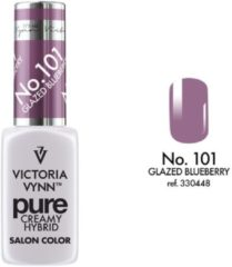 Paarse VICTORIA VYNN™ Gel Nagellak - Gel Polish - Pure Creamy Hybrid - 8 ml - Glazed Blueberry - 101