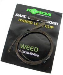 Korda Camouflage Leaders + Hybrid Leadclip - Weedy groen - 40lb