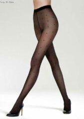Gatta Funny 05 micro-netpanty 20DEN met stippen zwart maat 4- L