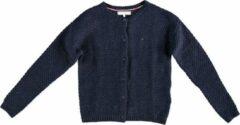 Tommy Hilfiger Stevig donkerblauw vest met allover glitterdraad - Meisjes Vest Maat 152