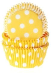 House of Marie Cupcake Vormpjes (Baking Cups) - Stippen Geel - pk/50