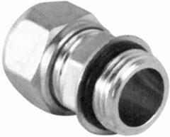 Nemo Go Pex Alu klem rechte koppeling Ø16mm x 1/2M verchroomd (per 10) B48536