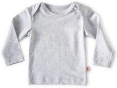 Little Label - baby - T-shirt - grijs - maat 56 - bio-katoen