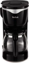 Zilveren Tefal Koffiezetapparaat Mini CM340811, met glazen kan, edelstaal/zwart