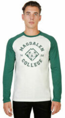 Groene T-Shirt Lange Mouw Oxford University - magdalen-raglan-ml