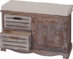 Heute-wohnen Sitzbank Ascoli, Bank Kommode, Shabby-Look Vintage 49x71x32cm braun