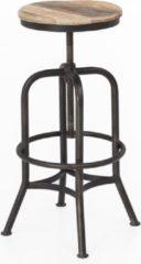 Naturelkleurige Perfecthomeshop Barkruk Industrieel 60x35 cm – Vintage Look – Stijlvolle Uitstraling