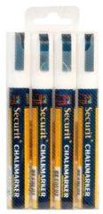 Krijtstift Securit SMA-510 schuin wit 2-6mm blister à 4st