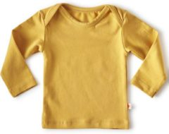 Little Label - baby - T-shirt - warm geel - maat 50 - bio-katoen