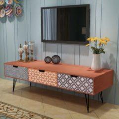 VidaXL Tv-meubel met 3 lades 120x40x36 cm bruin