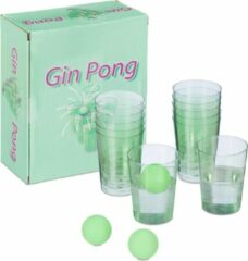 Relaxdays Gin Pong set - drankspel - partyspel - 12 bekers - 3 ballen - studentenspelen