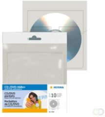 Herma 7688 Cd/Dvd Pockets,Self-Adhesive, 10 P 129X130Mm