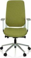 Hjh OFFICE Chiaro T4 White - Professionele bureaustoel - Groen - Stof