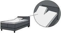 Antraciet-grijze MatrasDirect Hoeslaken Splittopdek - Jersey 200x200 Antraciet