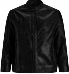 Zwarte Jack & Jones Plus size jas Imitatieleren