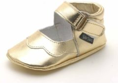 Goudkleurige Baby Paws babyslofjes Cindy Goud maat 5 = ( 13,5 cm)
