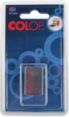 Rode Colop stempelkussen tweekleurig (blauw/rood), voor stempel S160L, blister van 2 stuks