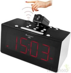 Soundmaster Radio controlled clockradio with projection & IR-sensor (FUR6005)
