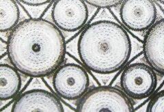 Transparante Tafelbekleding Raamfolie Statisch 2D Embossed 90CM Breed - Cirkels