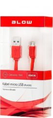 Rode ABC-Led Micro USB Kabel Plat 1 meter - Rood KM06