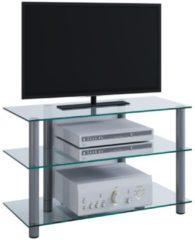 TV-Rack Lowboard Konsole Fernsehtisch TV Möbel Bank Glastisch Tisch Schrank 'Sindas' VCM Klarglas