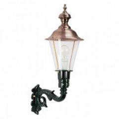 KS Verlichting Muurlamp Schardam M staand groen/koper
