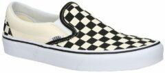 Witte Vans Checkerboard Classic Slip-Ons zwart