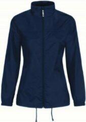 Marineblauwe Bc Dames regenkleding - Sirocco windjas/regenjas in het donkerblauw - volwassenen XL (42) marine
