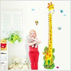 Groene GroeimeterStickers Groeimeter sticker Giraffe