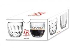 Transparante La Rochère Espressoglas 10 cl giftbox set van 4