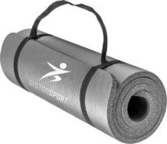 Siston® Siston Sport Fitnessmat – 183 cm x 61 cm x 1.5 cm – Grijs – Inclusief draagtas en extra draagriem