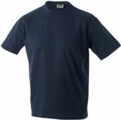 Marineblauwe James & Nicholson James and Nicholson - Heren Workwear T-Shirt (Navy)