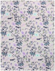 Roze Peppa Pig Peppa Big flanellen fleecedeken/plaid 120 x 160 cm - Kinderkamer dekens van fleece