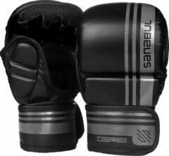 Sanabul Sports Sanabul Core Series Hybride Handschoenen - 7 oz - zwart en metaal - S/M