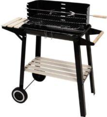 Zwarte BBQ Barbecue verrijdbaar