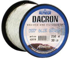Albatros Vislijn Almega Dacron Silicone - Hoofdlijn - 250 m 30 lb Zeevis