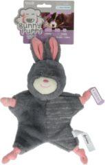 Bunny Puppy Crunchy Knot - Hondenspeelgoed - 34x19x8 cm Grijs Roze