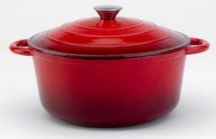 Relance Le Beaussette braadpan met druppeldeksel - Ø 28 cm - gietijzer - rood