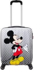 Zwarte American Tourister Disney Legends Spinner 55 Alfatwist 2.0 mickey mouse polka dot Harde Koffer