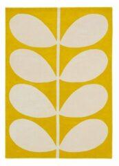 Orla Kiely - Yellow Stem 59306 Vloerkleed - 200x280 cm - Rechthoekig - Laagpolig Tapijt - Retro, Scandinavisch - Geel, Wit