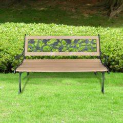 Bruine VidaXL - Tuinbank hout met rozenmotief 40261