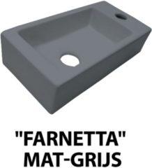 Douche Concurrent Fontein Farnetta Rechthoek Rechts 37x18x9cm Keramiek Mat Grijs