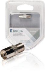 König Coax-Adapter F F-Connector Female - Coax Female (IEC) Zilver